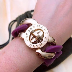 Marc By Marc Jacobs rubber bracelet purple gold